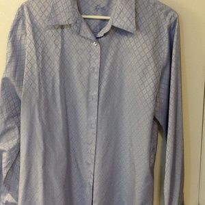 Foxcroft button down long sleeve shirt size 16